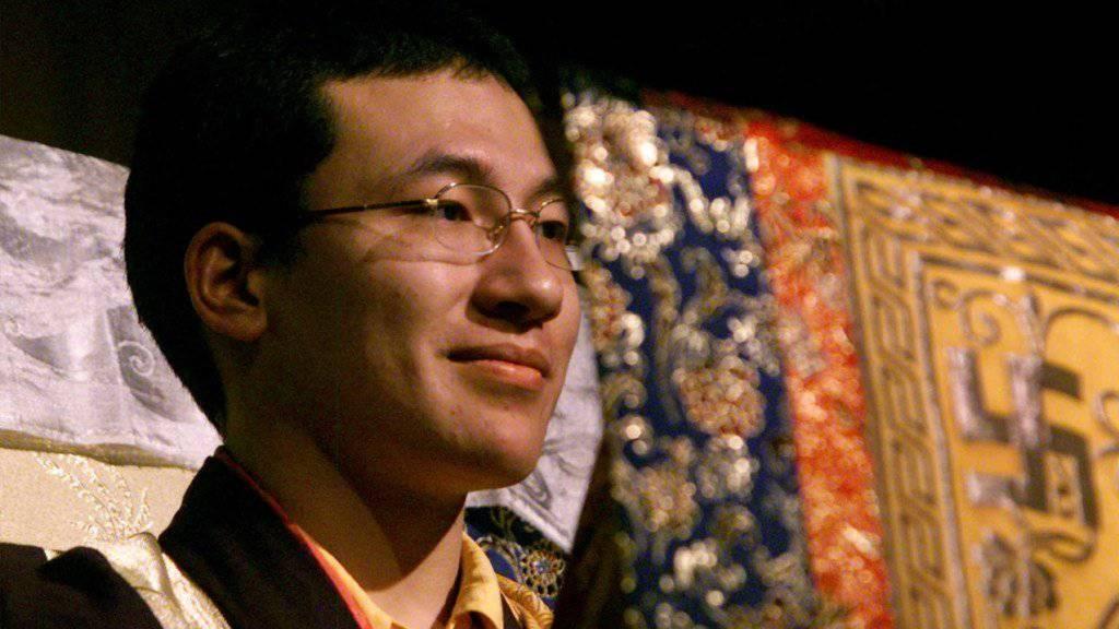 Der Mönch Thaye Dorje, der seit seiner Kindheit als Karmapa Lama verehrt wird, hat seine Jugendfreundin Rinchen Yangzom geheiratet. (Archiv)