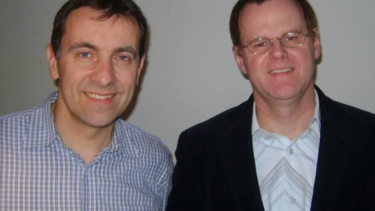 v.l. Thomas Wirth, EVP-Ortsparteipräsident Dietikon,  Reto Bär, EVP-Ortsparteipräsident Schlieren
