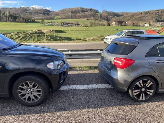 Im Gemeindegebiet von Walterswil fuhr ein betrunkener Autofahrer in das vordere Auto.