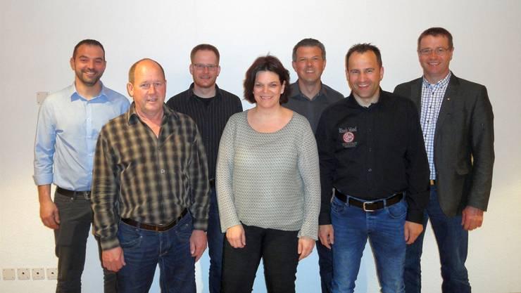 Kandidieren für die CVP (v.l.): Silvan Eggenschwiler, Kurt Koch, Christian Meister, Nicole Sesseli–Müller, Adrian Schaad, Daniel Fluri und Edgar Kupper. rsl