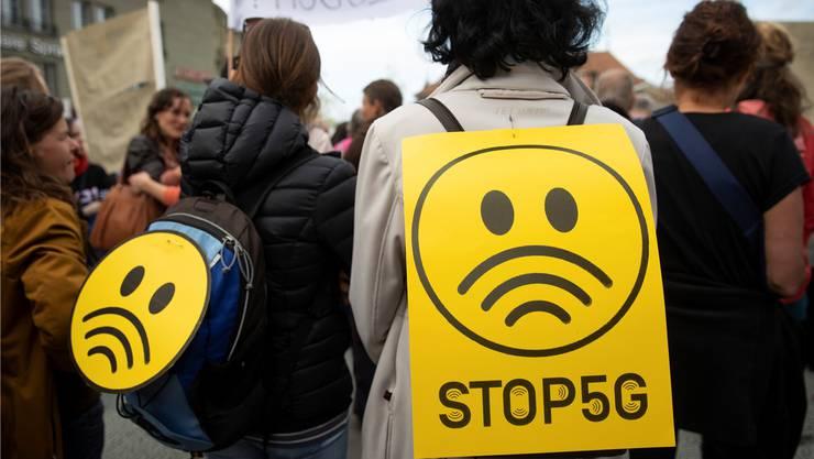 Die neue Technologie führt zu Bedenken: Demonstration in Bern.