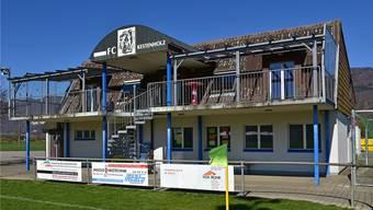 Das Klubhaus des FC Kestenholz dient als Mittagstisch.