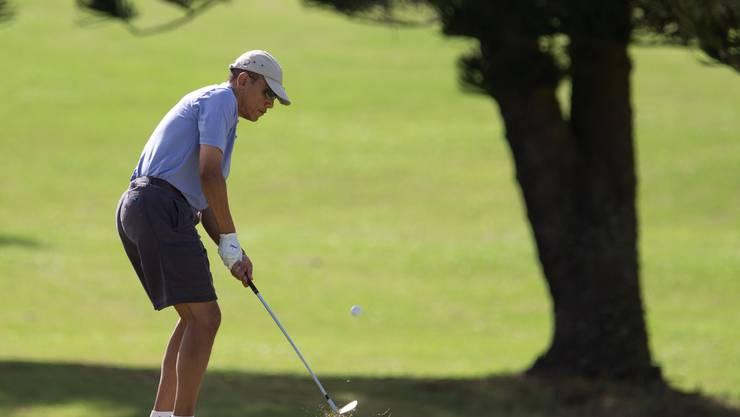 Barack Obama am 18. Loch des Mid Pacific Country Clubs auf Kailua, Hawaii.