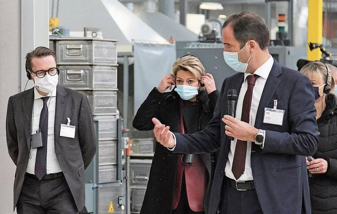 Einsatz bis zuletzt: Karin Keller-Sutter vergangene Woche in der Ostschweiz...