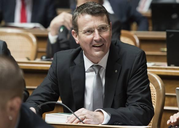 Thomas Burgherr kurz nach seiner Wahl in den Nationalrat. Der Aargauer SVP-Präsident ist Mitglied der Staatspolitischen Kommission.