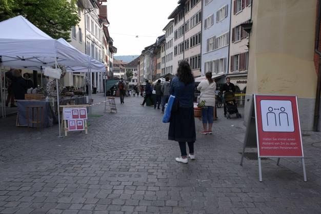Impressionen vom Wochenmarkt Baden am Samstag