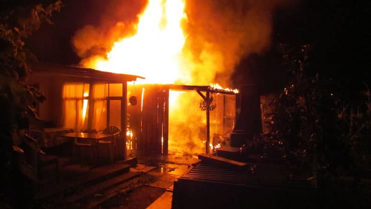 Gartenhäuschen in Rheinfelden niedergebrannt