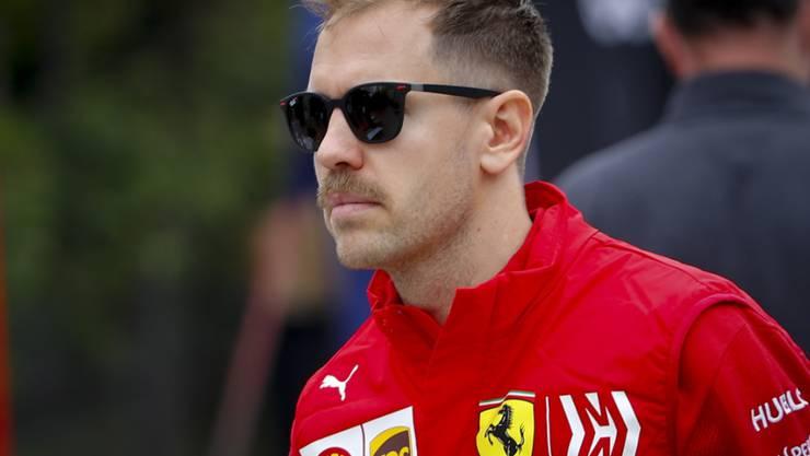 Sebastian Vettel war im Ferrari im ersten Training in Schanghai der Schnellste