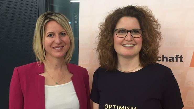 Die Allschwilerin Muriel Dietiker (links) stösst neu zum von Brigitte Müller (rechts) präsidierten CVP-Vorstand.