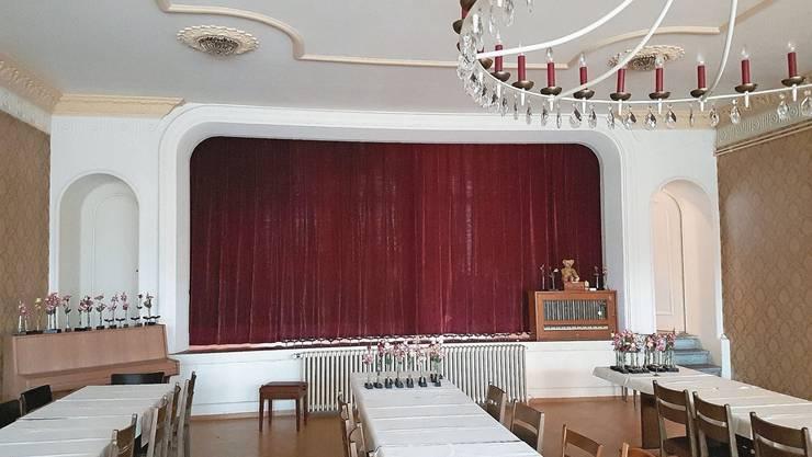 Der Saal im Obergeschoss kann wieder genutzt werden.