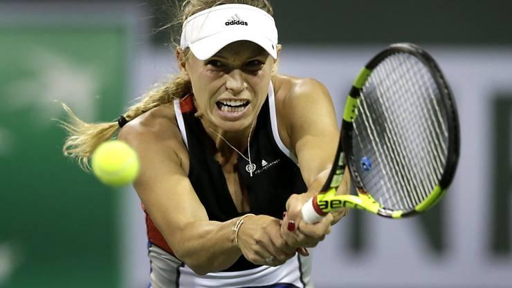 Mühte sich in Indian Wells vergeblich: Caroline Wozniacki scheiterte an der jungen Russin Daria Kasatkina