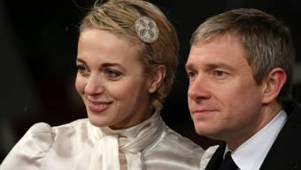 Haben sich nach 15 Jahren getrennt, bleiben als Eltern zweier Kinder aber freundschaftlich verbunden: Die britischen Schauspieler Amanda Abbington (l.) und Martin Freeman.