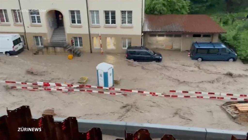 Heftige Unwetter richten in Basel und Bern Schäden an