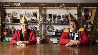 Zeremonienmeister Daniel Leutwiler und Präsident Michael Keel bedauern das Aus der Fasnacht 2021.