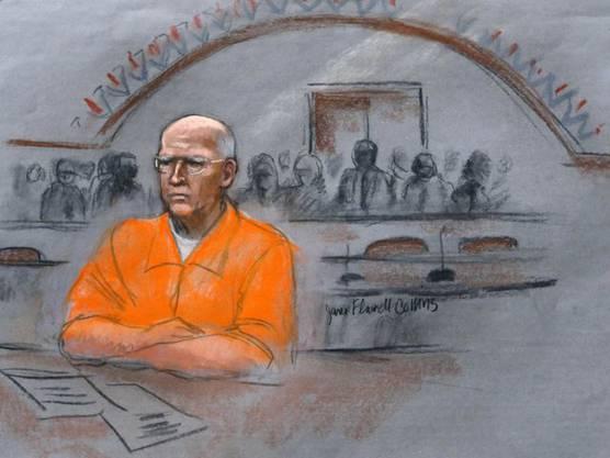 """James """"Whitey"""" Bulger terrorisierte Boston in 70er und 80er Jahren – hier 2016 während des Prozesses in Boston."""
