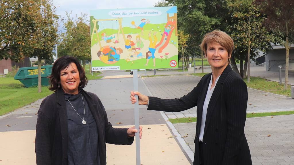 Erste Rheintaler Gemeinde hat rauchfreien Spielplatz