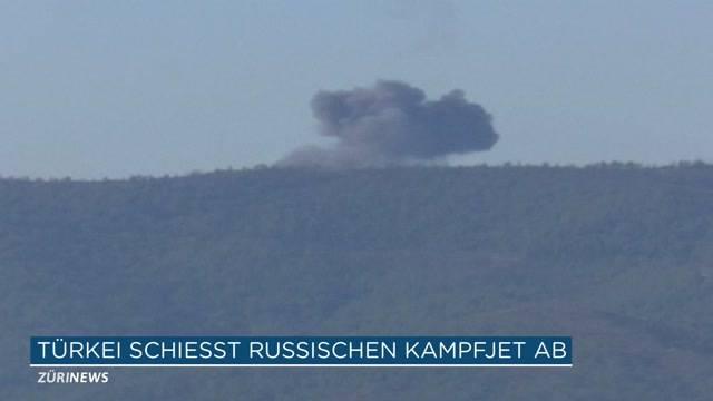 Türkei schiesst russischen Jagdbomber ab