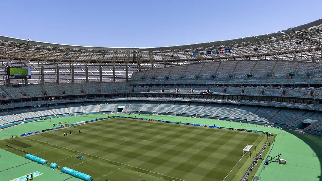 Das Olympiastadion von Baku: Hier startet die Schweiz am Samstag in die EM