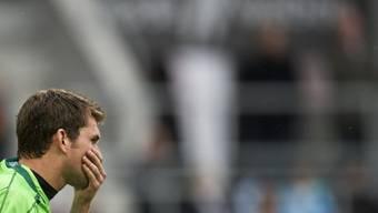 Philipp Muntwiler nach der Niederlage gegen den FC Basel am letzten Wochenende.