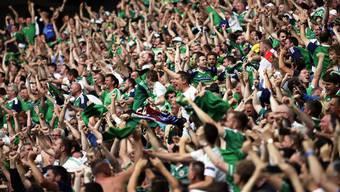 Stimmgewaltiger Support: Die Anhänger Nordirlands.