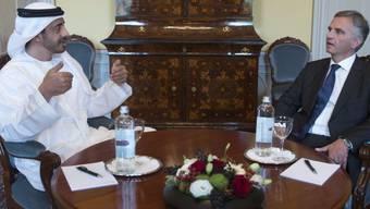 Bundesrat Burkhalter und Scheich Abdullah bin Zayed Al Nahyan