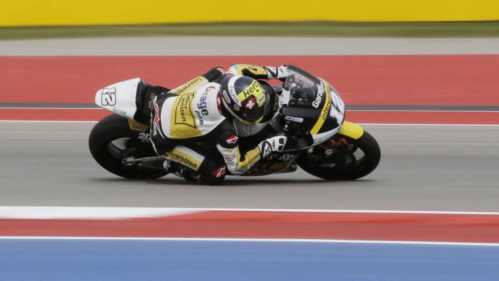 Moto2-WM-Leader Tom Lüthi im ersten freien Training auf dem Circuit in Austin, Texas