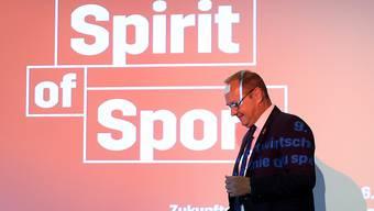 Swiss-Olympic-Präsident Jürg Stahl an einer Podiums-Veranstaltung im Juni 2020 in Bern