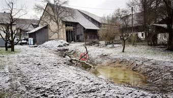 Alte Holzwasserleitung entdeckt