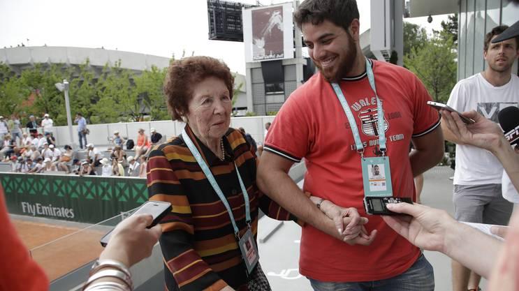 Die Grossmutter versteht nichts von Tennis, freute sich aber riesig über den Erfolg des Neffen