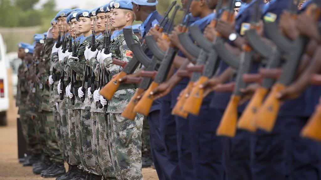 UNO-Friedenstruppen stehen stramm im malischen Gao - sie sollen bald Verstärkung erhalten. (Archivbild)