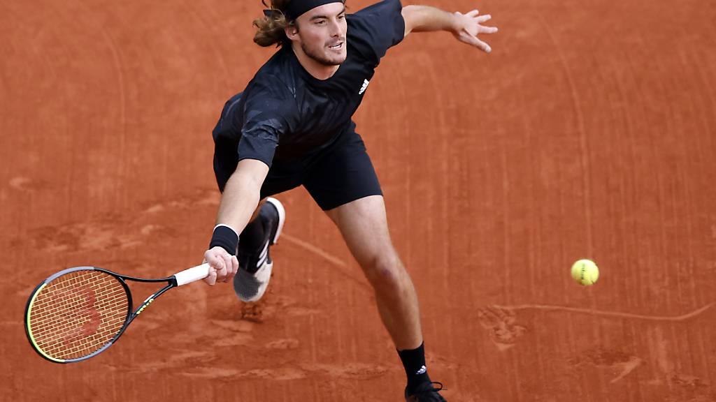 Mit starkem Auftritt erstmals in den Roland-Garros-Viertelfinal: Stefanos Tsitsipas in Paris