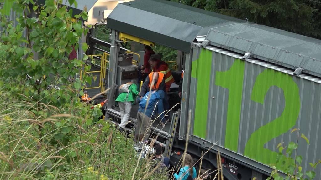 BLS-Zug in Boltigen entgleist