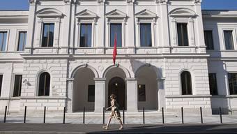 Das Bundesstrafgericht in Bellinzona hat Daniel Senn  zu einer bedingten Geldstrafe und einer Busse verurteilt. (Archiv)