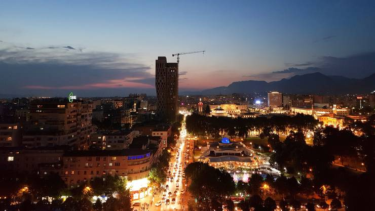 <p>Die Hauptstadt Albaniens Tirana by Night.</p>
