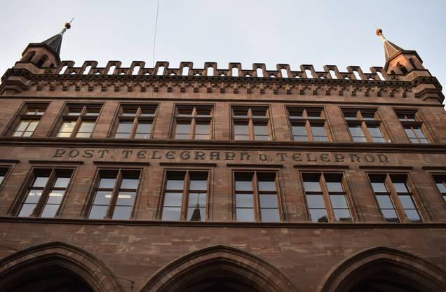 Das altehrwürdige Gebäude der Basler Hauptpost.