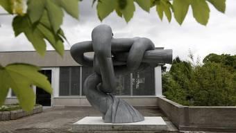 Das «objet soleure» auf der Terrasse der Pädagogischen Hochschule Solothurn.