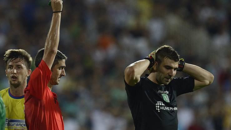 Ludogorez-Torhüter Wladislaw Stojanow erhält die Rote Karte - ein Glücksfall!