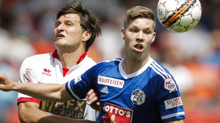 Cedric Itten (rechts) spielt in Zukunft wieder für den FC Basel