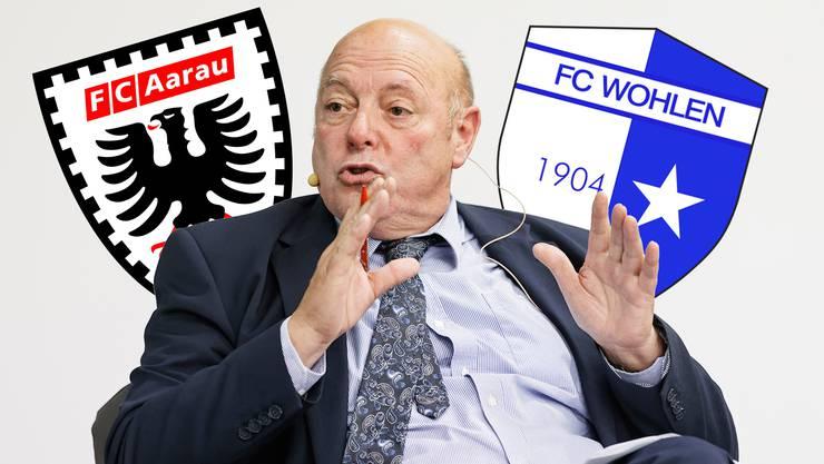 «Weder der FC Aarau noch der FC Wohlen haben mit den heutigen Voraussetzungen eine rosige Zukunft», sagt SVP-Nationalrat Ulrich Giezendanner.