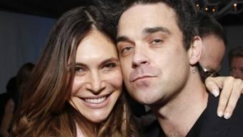 Bald zu viert: Robbie Williams und Ayda Field (Archiv)