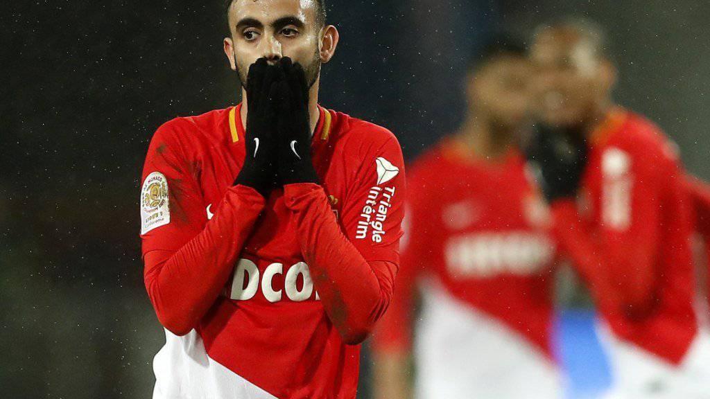 Von einer 3:1-Führung zum 3:3 - Monacos Rachid Ghezzal steht der Schock ins Gesicht geschrieben