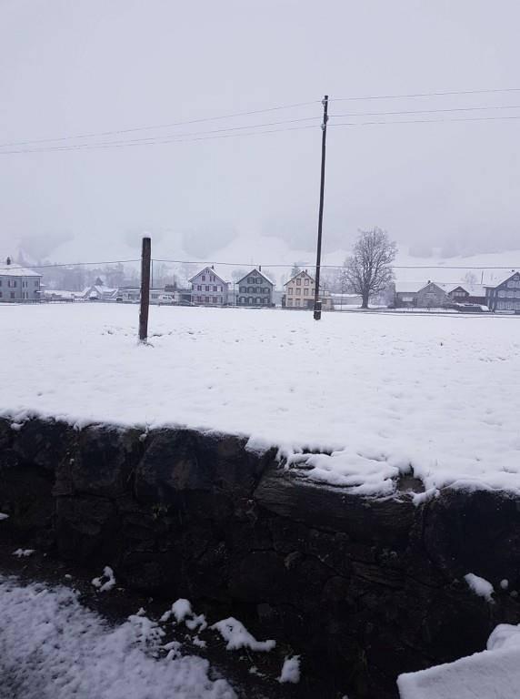 Und auch in Urnäsch hat es ordentlich geschneit