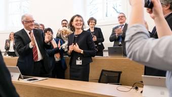 Aargauer Grosser Rat am 7. Januar 2020 mit der Wahl von Edith Saner zur Präsidentin