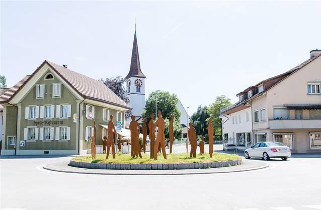 Der Kreisel prägt das Kölliker Dorfzentrum.