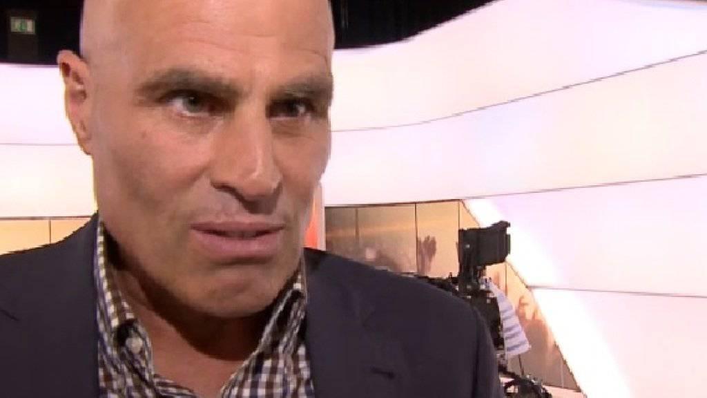 Andy Egli in der Sendung «Glanz & Gloria» (Screenshot SRF).