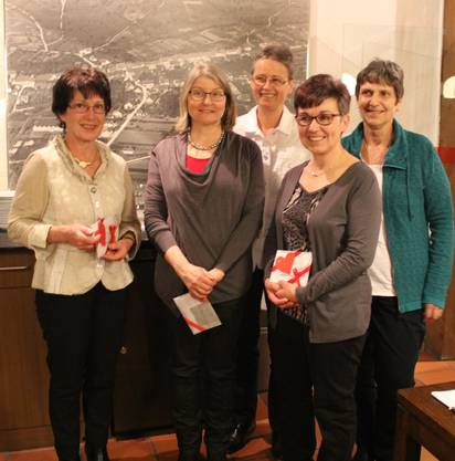 Die fleissigsten Turnerinnen: Bernadette Schraner, Gaby Weber, Martha Jegge, Vreni Zehnder, Barbara Liechti