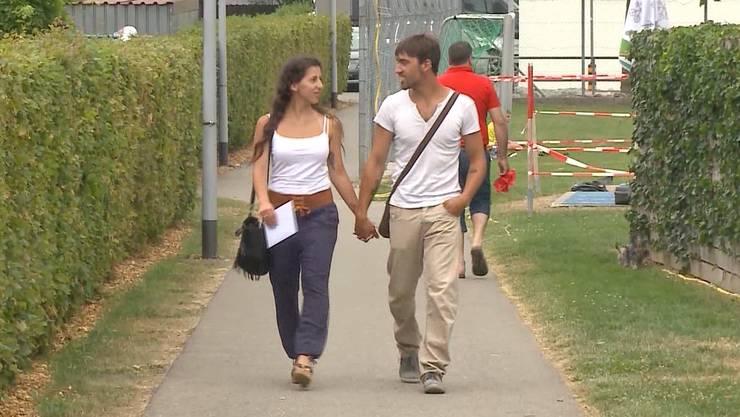 Funda Yilmaz mit ihrem Freund in Buchs.
