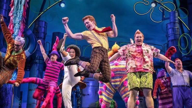 """Das Musical """"SpongeBob SquarePants"""" ist einer der aussichtsreichsten Kandidaten für einen Tony Award. (Archivbild)"""