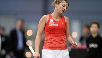 Wenig Grund zu lachen: Timea Bacsinszky verlor in den Achtelfinals des WTA-Turniers in Doha deutlich