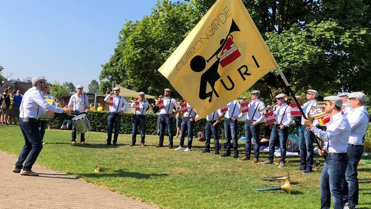 Die Gardisten der Clairongarde Muri bei einem ihrer Auftritte.